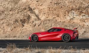 Bilder Toyota Rot Seitlich 2014 FT-1 Concept auto
