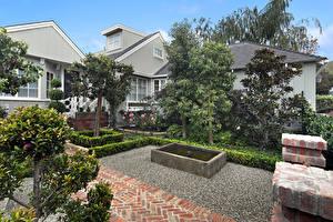 Fotos Vereinigte Staaten Gebäude Landschaftsbau Kalifornien Herrenhaus Bäume Laguna Beach