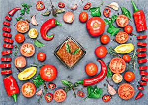 Hintergrundbilder Gemüse Tomate Peperone Chili Pfeffer Design Ketchup