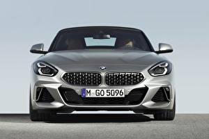 Hintergrundbilder BMW Vorne Silber Farbe Z4 M40i 2019 G29 Autos