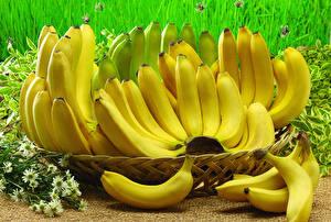Fotos Bananen Viel Großansicht Lebensmittel
