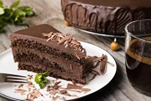 Hintergrundbilder Torte Schokolade Stück