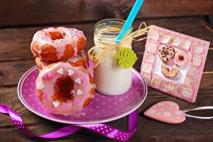 Hintergrundbilder Cocktail Donut Teller Trinkglas Herz