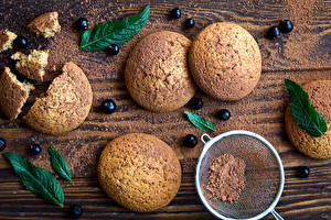 Hintergrundbilder Kekse Meertrübeli Bretter Kakaopulver Blatt Lebensmittel