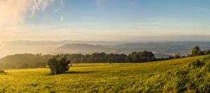 Фото Чехия Пейзаж Горы Леса Карпаты Трава