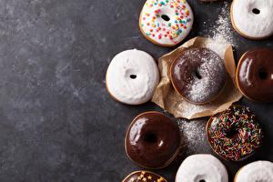 Hintergrundbilder Donut Schokolade Backware Puderzucker