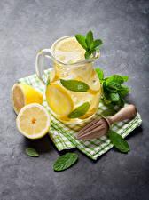 Image Drink Lemons Lemonade Jugs Foliage