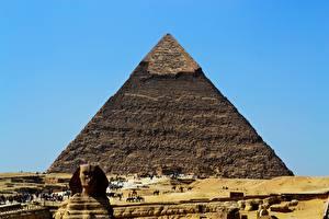 Fotos Ägypten Wüste Pyramide bauwerk Sphinx, Giza Städte