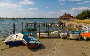 Fotos England Flusse Schiffsanleger Boot Bosham Quays Natur