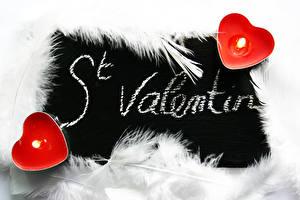 Bilder Federn Kerzen Feuer Valentinstag Herz Englisch
