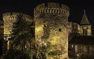 Pictures Fortress Belgrade Serbia Night