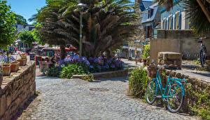 Wallpapers France Building Street Bike Brehat Cities