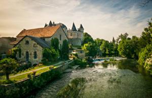 Image France Building Castles Rivers Verteuil sur Charente Cities