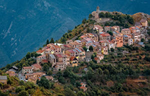 Hintergrundbilder Frankreich Haus Hügel Ilonse Städte