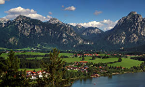 Images Germany Mountain Houses Bavaria Bebele Nature