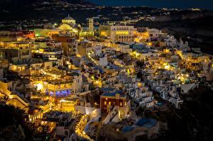 Bilder Griechenland Thira Haus Nacht Städte