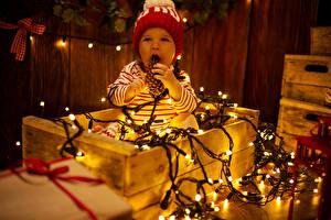 Fotos Baby Mütze Lichterkette