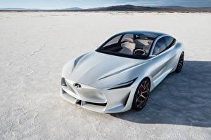 Hintergrundbilder Infiniti Weiß 2018 Q Inspiration Concept automobil