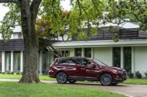 Fotos Infiniti Bordeauxrot Metallisch Seitlich 2019 QX60 3.5 Limited Autos