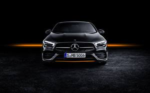 Wallpapers Mercedes-Benz Front CLA AMG Line 2019 Edition Orange Art Cars