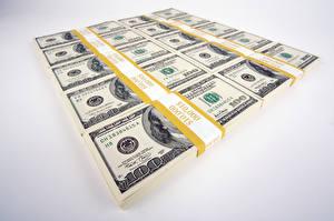 Bilder Geld Papiergeld Dollars Grauer Hintergrund
