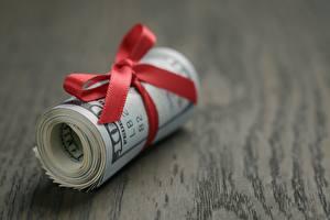 Bilder Geld Dollars Großansicht Schleife