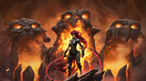 Images Monsters Flame Warriors Darksiders Armour 3 Girls