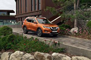 Wallpaper Nissan Orange Metallic 2018-19 X-Trail CIS-spec automobile