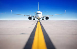 Wallpaper Airplane Passenger Airplanes Front Takeoff