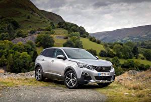 Hintergrundbilder Peugeot Silber Farbe 2016-18 3008 Autos
