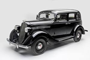 Fotos Retro Nissan Grauer Hintergrund Schwarz Metallisch 1937-39 Nissan 70 Autos