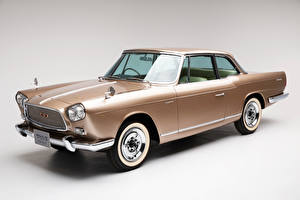 Wallpapers Vintage Nissan Gray background Metallic 1961-63 Prince Skyline Sports Coupe Michelotti automobile