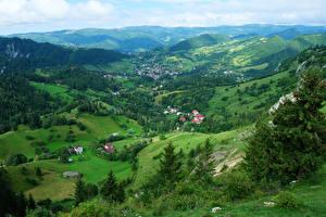 Hintergrundbilder Rumänien Landschaftsfotografie Gebäude Hügel Transylvania Natur