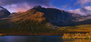 Fotos Russland Gebirge Fluss Herbst Khibiny Natur