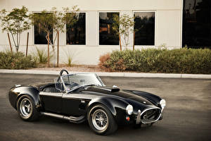 Wallpapers SSC Vintage Black Convertible Metallic 1965 Shelby Cobra 427 Prototype automobile