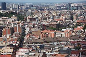 Sfondi desktop Spagna La casa Barcellona Megalopoli Città