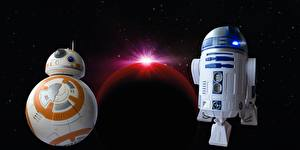 Photo Star Wars - Movies Robots Two R2d2, BB-8 Movies