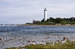 Bilder Stein Küste Leuchtturm Schweden Lighthouse Long Erik, Island Of Oland