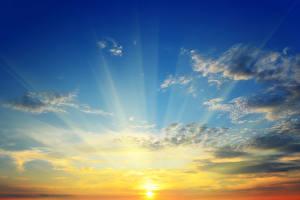 Fotos Sonnenaufgänge und Sonnenuntergänge Himmel Wolke Sonne Lichtstrahl Natur