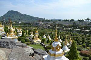 Bureaubladachtergronden Thailand Tropen Park Ontwerp Pattaya, Nong Nooch tropical Park, Chonburi province Steden