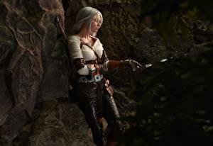 Hintergrundbilder The Witcher 3: Wild Hunt Krieger Ciri Junge Frauen Mädchens