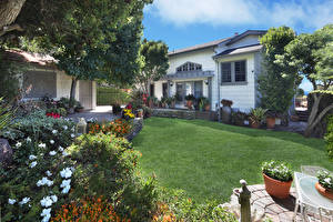 Wallpapers USA Houses Landscape design Lawn Mansion Laguna Beach