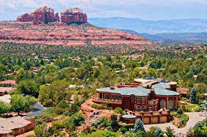 Hintergrundbilder Vereinigte Staaten Gebäude Sedona Arizona Städte