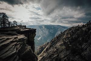 Fotos Vereinigte Staaten Parks Berg Yosemite Kalifornien Felsen Natur