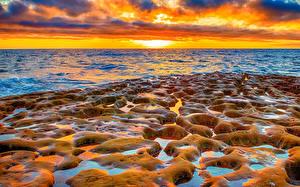 Bilder USA Sonnenaufgänge und Sonnenuntergänge Meer Küste Kalifornien