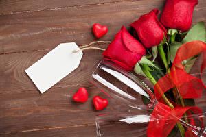 Hintergrundbilder Valentinstag Rosen Bretter Rot Vorlage Grußkarte Herz Drei 3 Weinglas Band