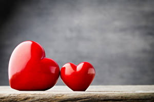 Hintergrundbilder Valentinstag Zwei Herz Rot