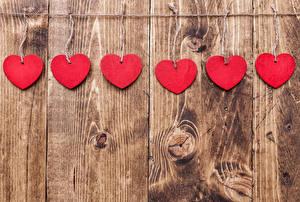 Bilder Valentinstag Bretter Wände Herz Rot