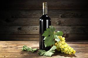 Bilder Wein Weintraube Bretter Flasche Blatt Lebensmittel