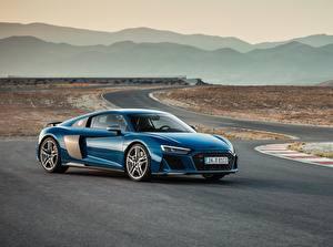 Wallpapers Audi Blue R8 automobile